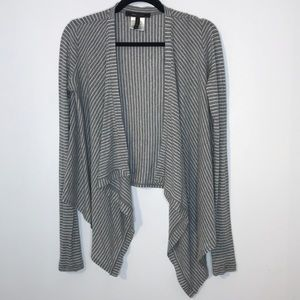 BCBG Lyocell blend waterfall open cardigan